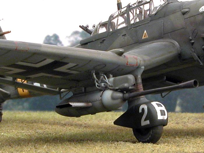 STUKA ju87g dive bomber gun runs on soviet tanks