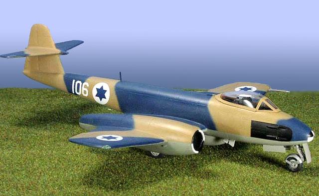 Assembled model Meteor trainer Assembled airplane model 64.